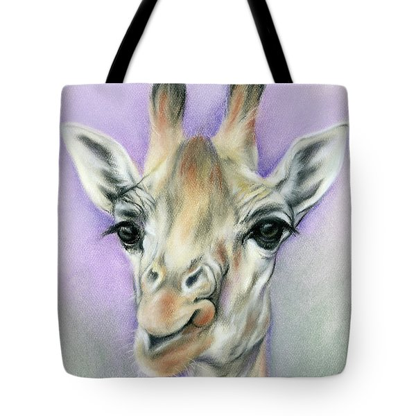 Giraffe With Beautiful Eyes Tote Bag