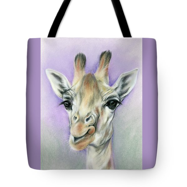 Giraffe With Beautiful Eyes Tote Bag by MM Anderson