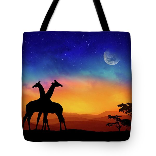 Giraffes Can Dance Tote Bag