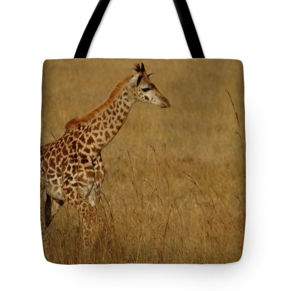 Giraffes On A Walk 2 Tote Bag