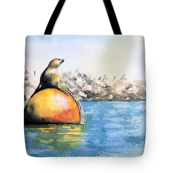 Girl And Buoy Tote Bag