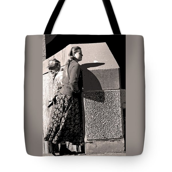 Girl And Dad Tote Bag