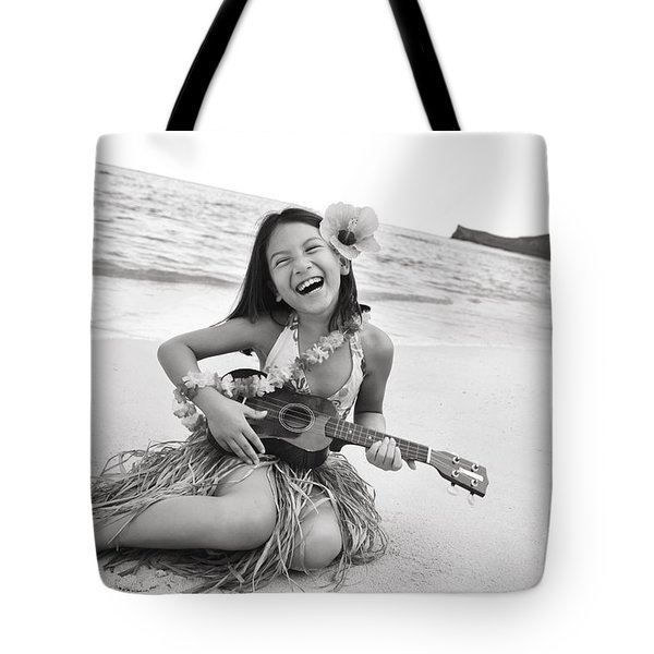 Girl And Her Ukulele Tote Bag by Brandon Tabiolo - Printscapes