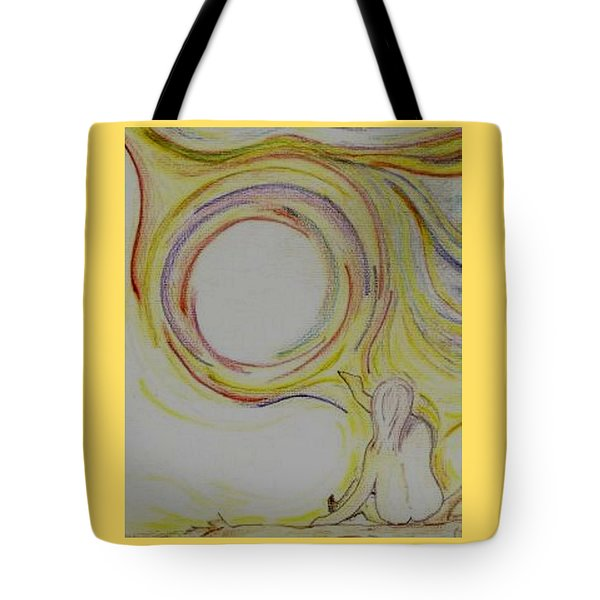 Girl And Universe Creative Connection Tote Bag
