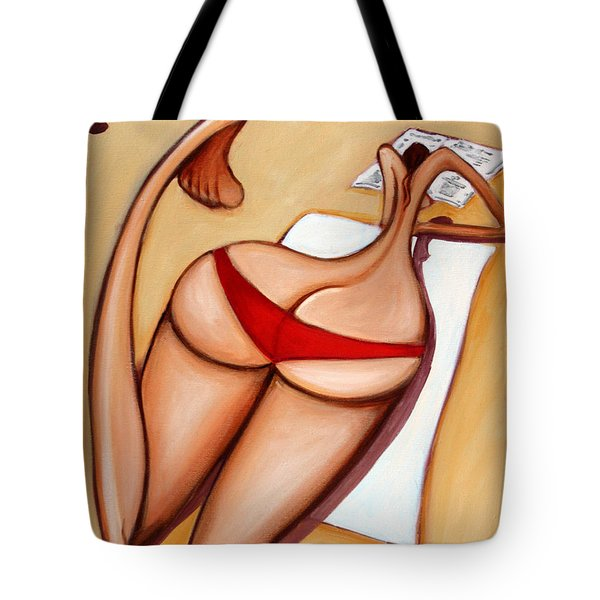 Girl At North Beach Tote Bag