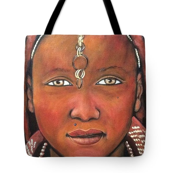 Girl From Africa Tote Bag by Jenny Pickens