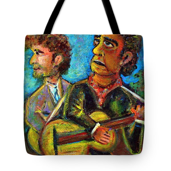 Girl From North Country Johnny Cash And Bob Dylab Tote Bag by Jason Gluskin