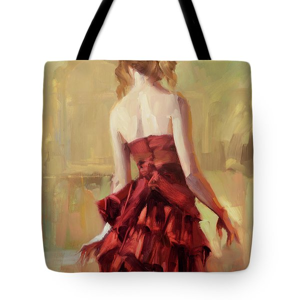Girl In A Copper Dress II Tote Bag