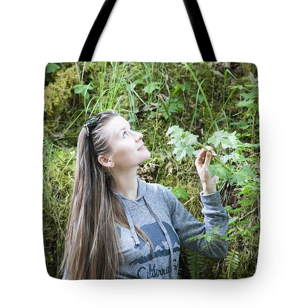 Girl In A Forest Tote Bag
