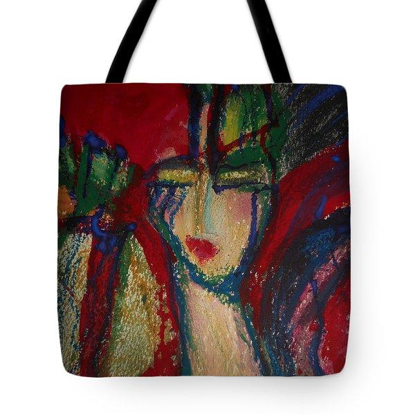 Girl In Darkness Tote Bag