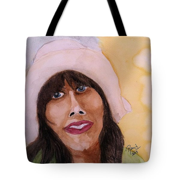 Tote Bag featuring the painting Girl In Hat by Rand Swift