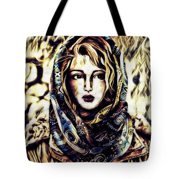 Girl In Hijab Tote Bag