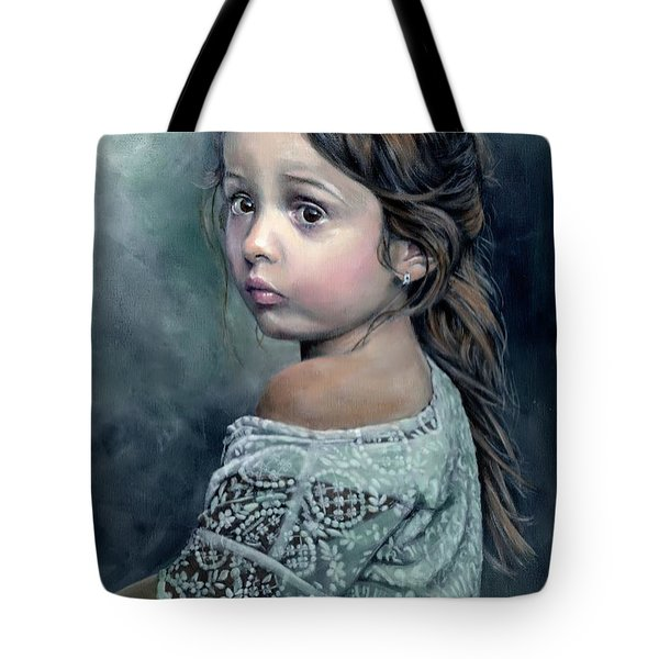 Girl In Lace Tote Bag