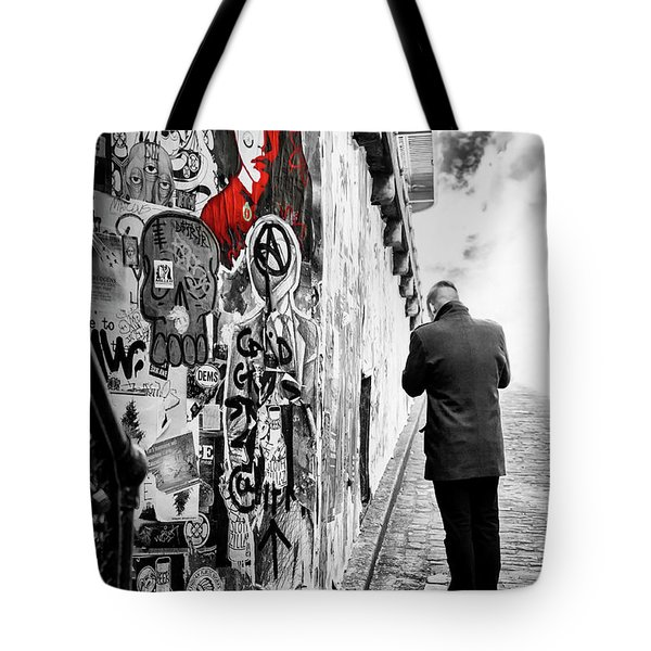 Tote Bag featuring the photograph Girl In Red by Anthony Citro