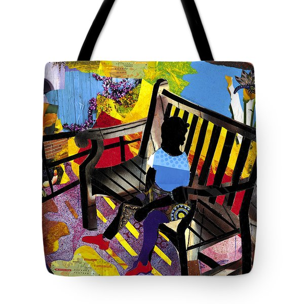 Girl In Red Shoes Tote Bag