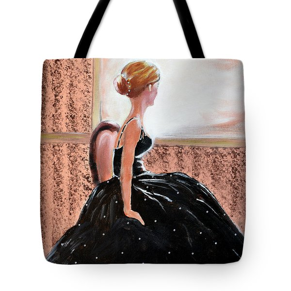 Girl In The Sequin Gown Tote Bag