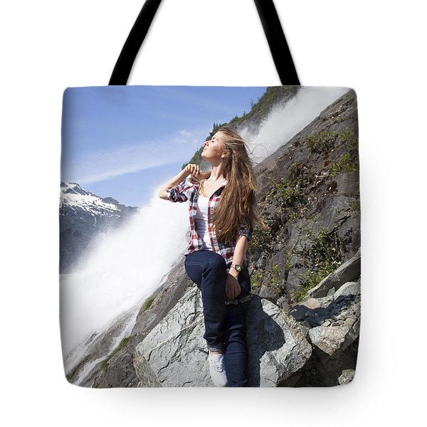 Girl In White Shoes Tote Bag