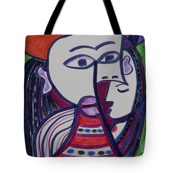 Tote Bag featuring the painting Girl Inside The Woman by Don Koester