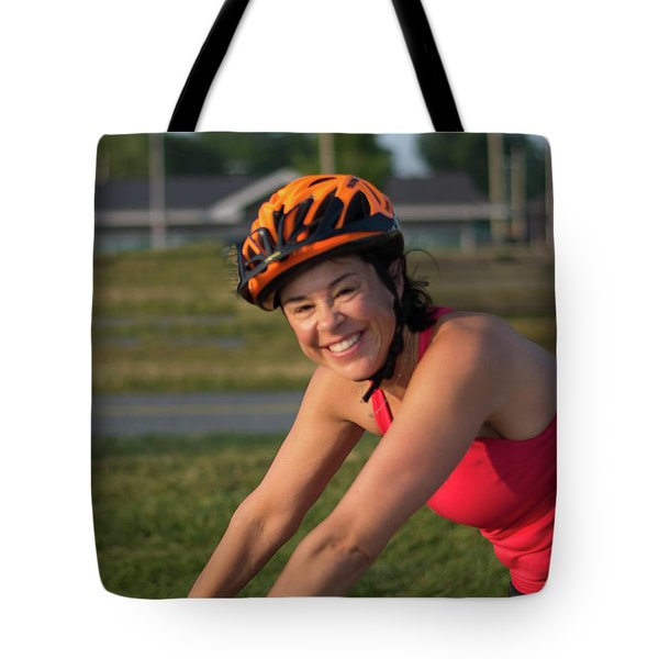 Girl On A Bike Tote Bag