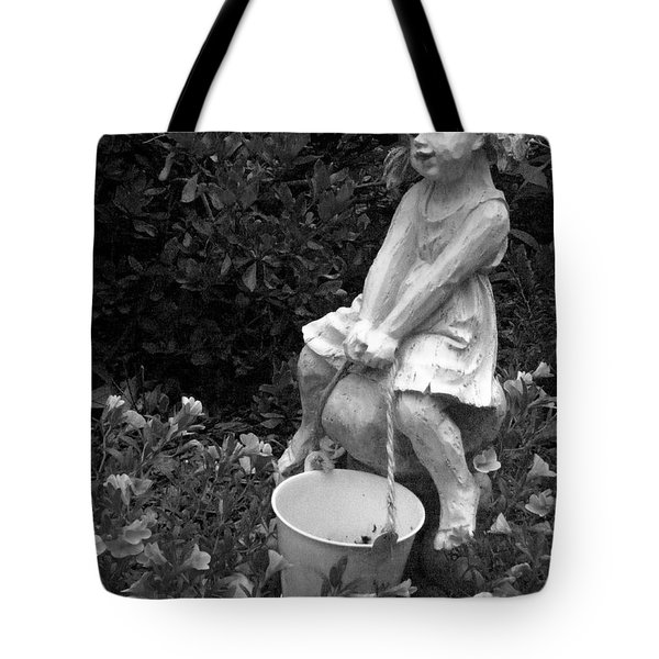 Tote Bag featuring the photograph Girl On A Mushroom by Sandi OReilly