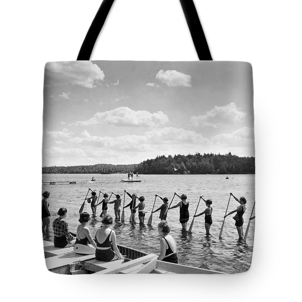 Girl Scout Canoe Lessons Tote Bag