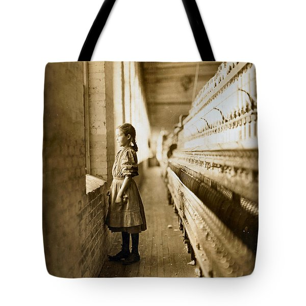 Girl Spinner 11 Years Old Rhodes Manufacturing Co Lincolnton 1908 Tote Bag