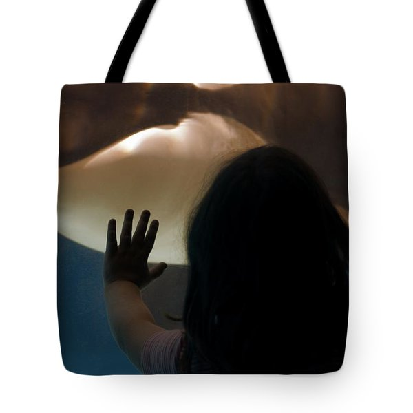 Tote Bag featuring the photograph Girl Vs Whale by Bob Pardue