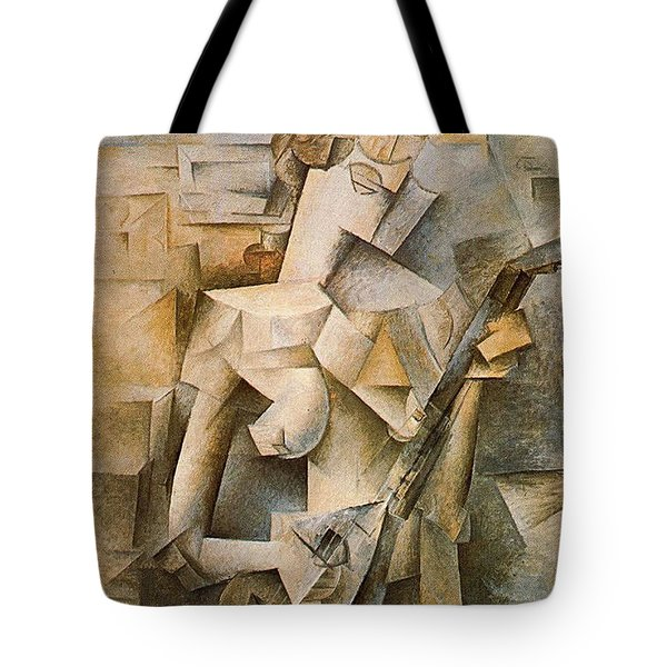 Girl With A Mandolin Tote Bag by Picasso