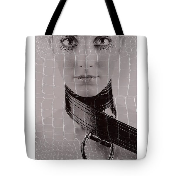 Girl With Big Eyes Tote Bag