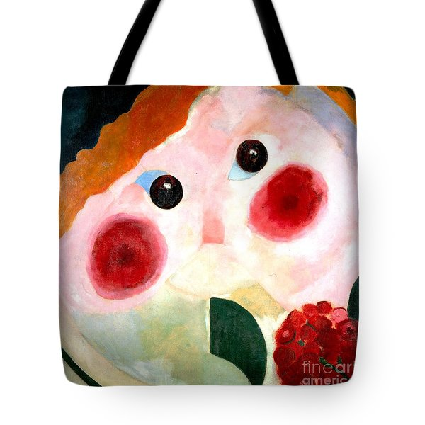 Tote Bag featuring the painting Girl With Buttercups by Pg Reproductions