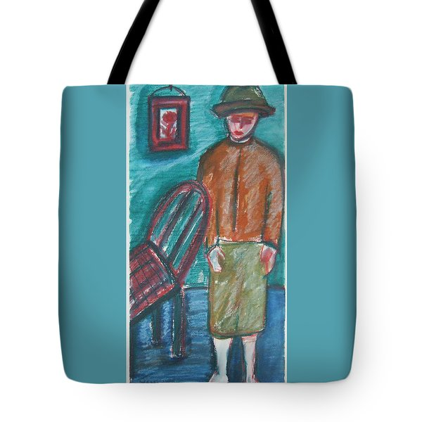 Girl With Chair Tote Bag