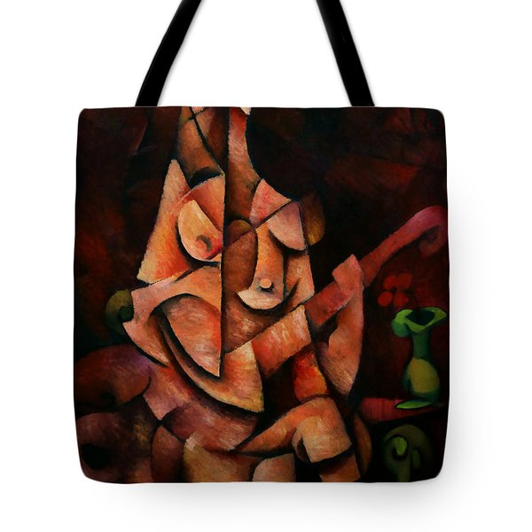Girl With Guitar Tote Bag