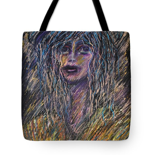 Girl With Hat Tote Bag