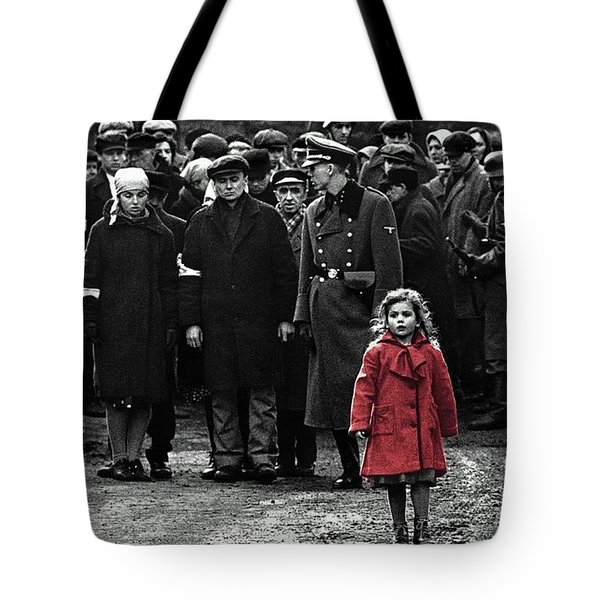 Girl With Red Coat Publicity Photo Schindlers List 1993 Tote Bag