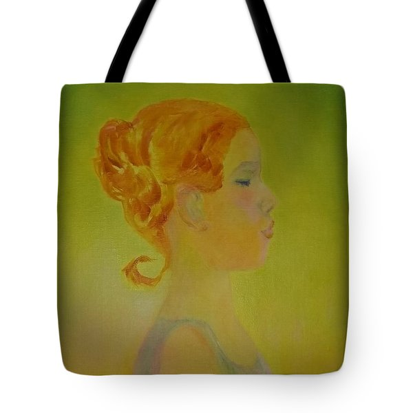 The Girl With The Curl Tote Bag
