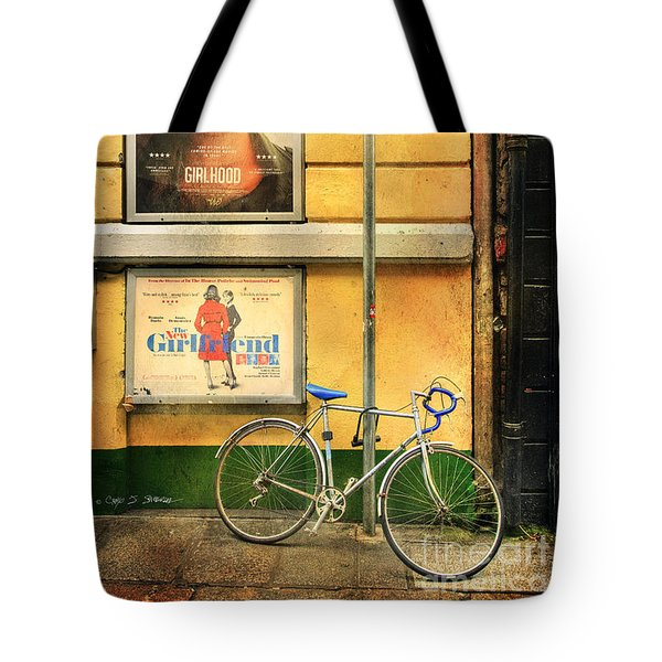 Girlfriend Bicycle Tote Bag by Craig J Satterlee