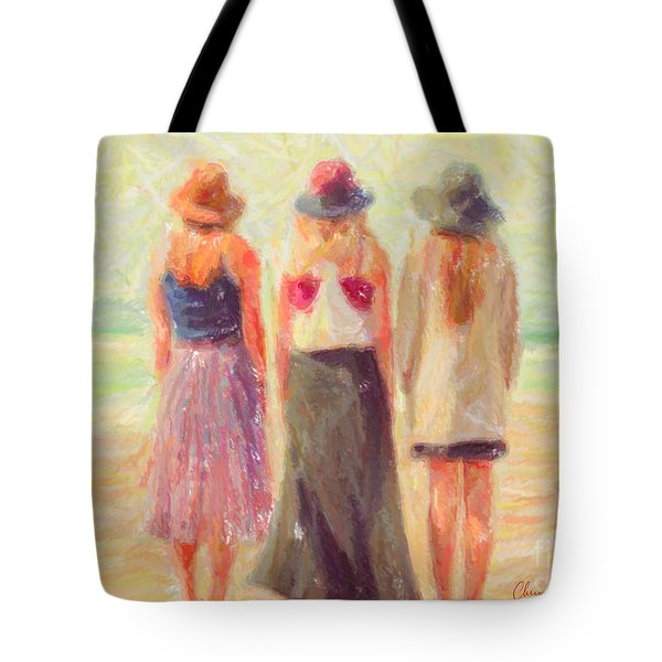 Girlfriends At The Beach Tote Bag