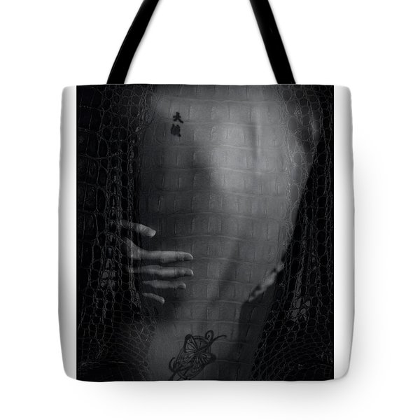 Girl's Back With Tattoo. Studio Shot Tote Bag