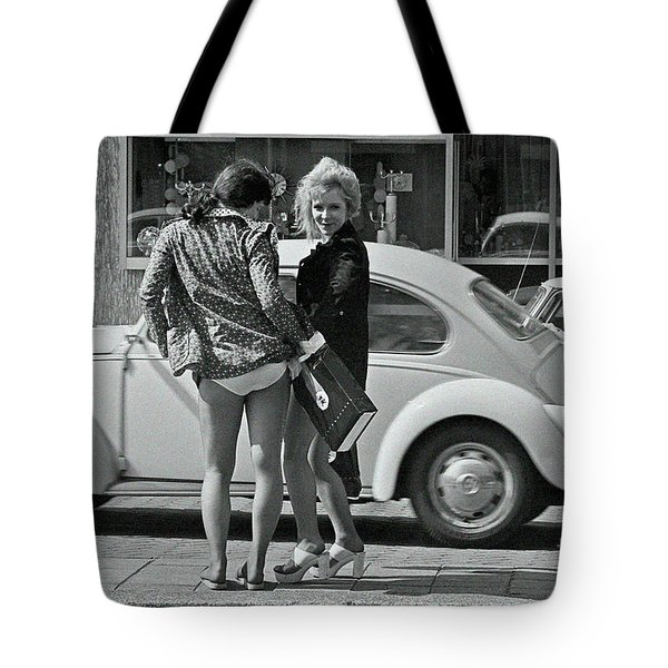Tote Bag featuring the photograph Girls by Hans Janssen