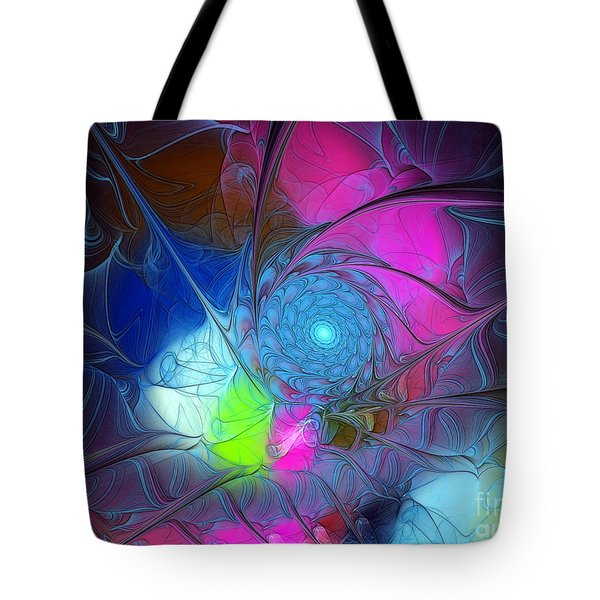 Tote Bag featuring the digital art Girls Love Pink by Karin Kuhlmann