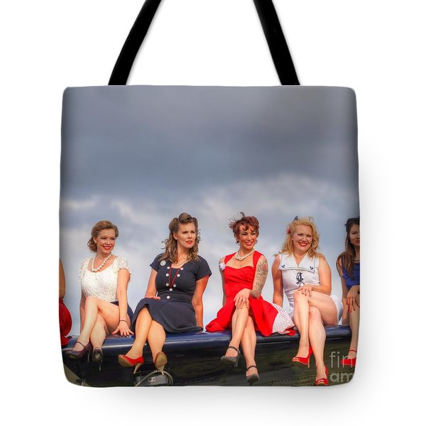 Girls On A Wing Tote Bag