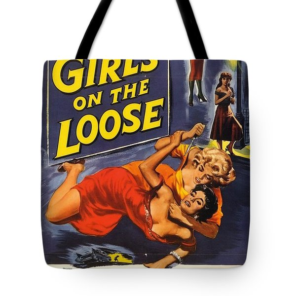 Tote Bag featuring the digital art Girls On The Loose by Reinvintaged
