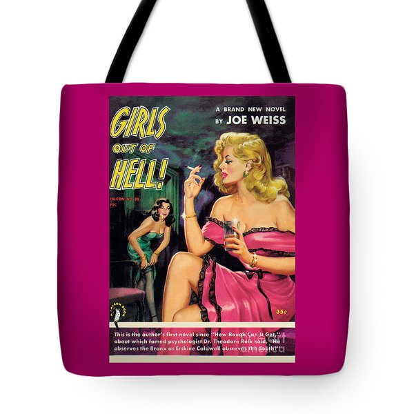 Tote Bag featuring the painting Girls Out Of Hell by George Gross