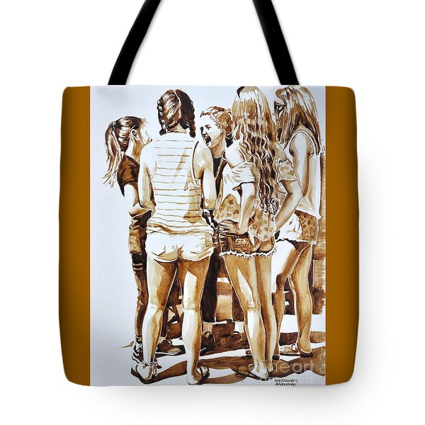 Girls Summer Fun Tote Bag