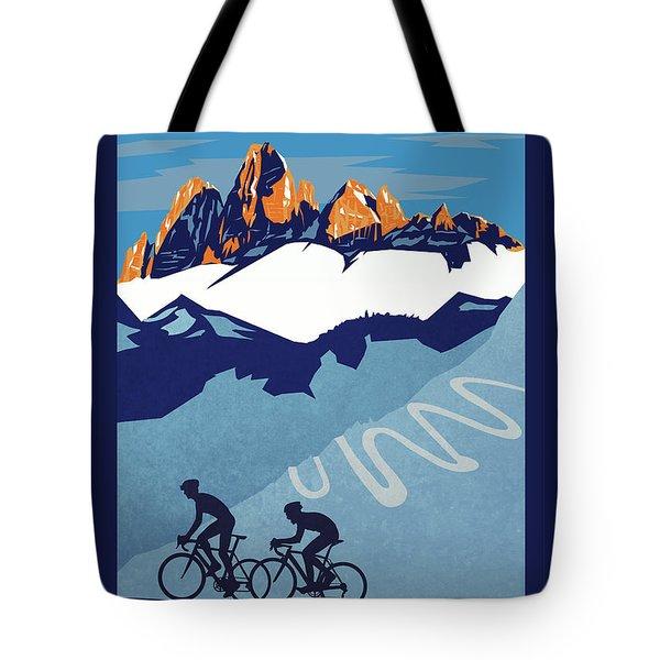 Giro D'italia Cycling Poster Tote Bag by Sassan Filsoof