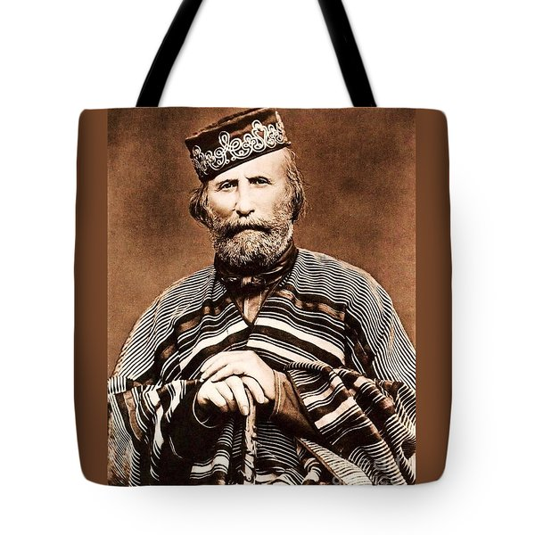 Giuseppe Garibaldi Tote Bag by Roberto Prusso
