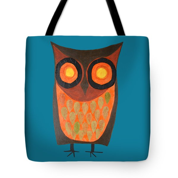 Give A Hoot Orange Owl Tote Bag
