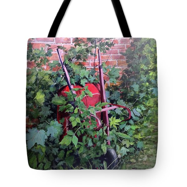 Tote Bag featuring the painting Give And Take by William Brody