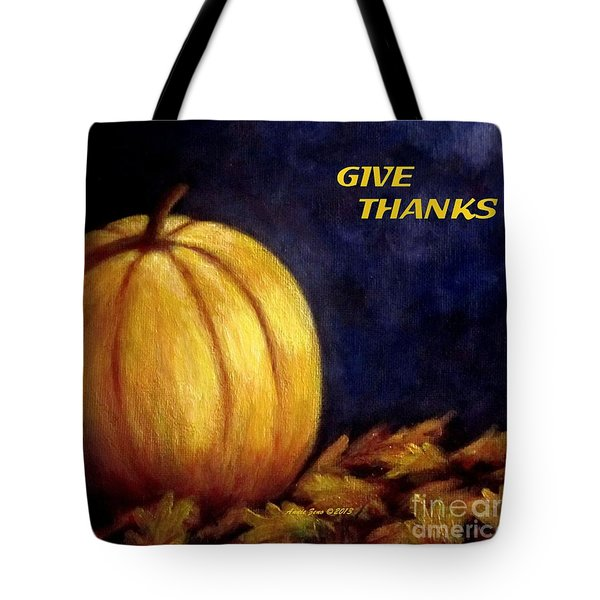 Give Thanks Autumn Painting Tote Bag