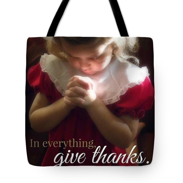 Give Thanks Color Tote Bag by Valerie Reeves